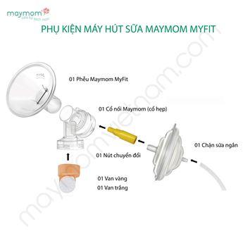 Hình ảnh củaPhụ Kiện Máy Hút Sữa Maymom Myfit Cổ Hẹp Kèm Chặn Sữa Ngắn Và Nút Chuyển Đổi (không bình)