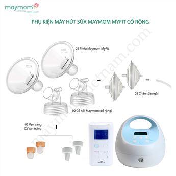 Hình ảnh củaPhụ Kiện Máy Hút Sữa Maymom Myfit Cổ Rộng Tương Thích Máy Hút Sữa Spectra